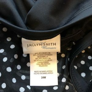 Jaclyn Smith Swim - NWT. Black with white polk o dots bathing suit top